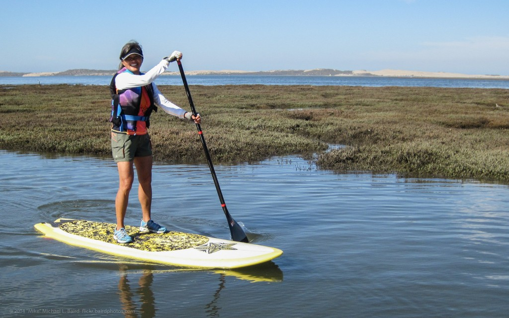 Sharon Chan on her short SUP Standup Paddle Board - 2014-10-05 Kayak Morro Bay